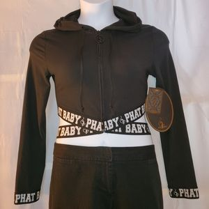 Baby Phat Cropped Hooded Jacket NWT Size L